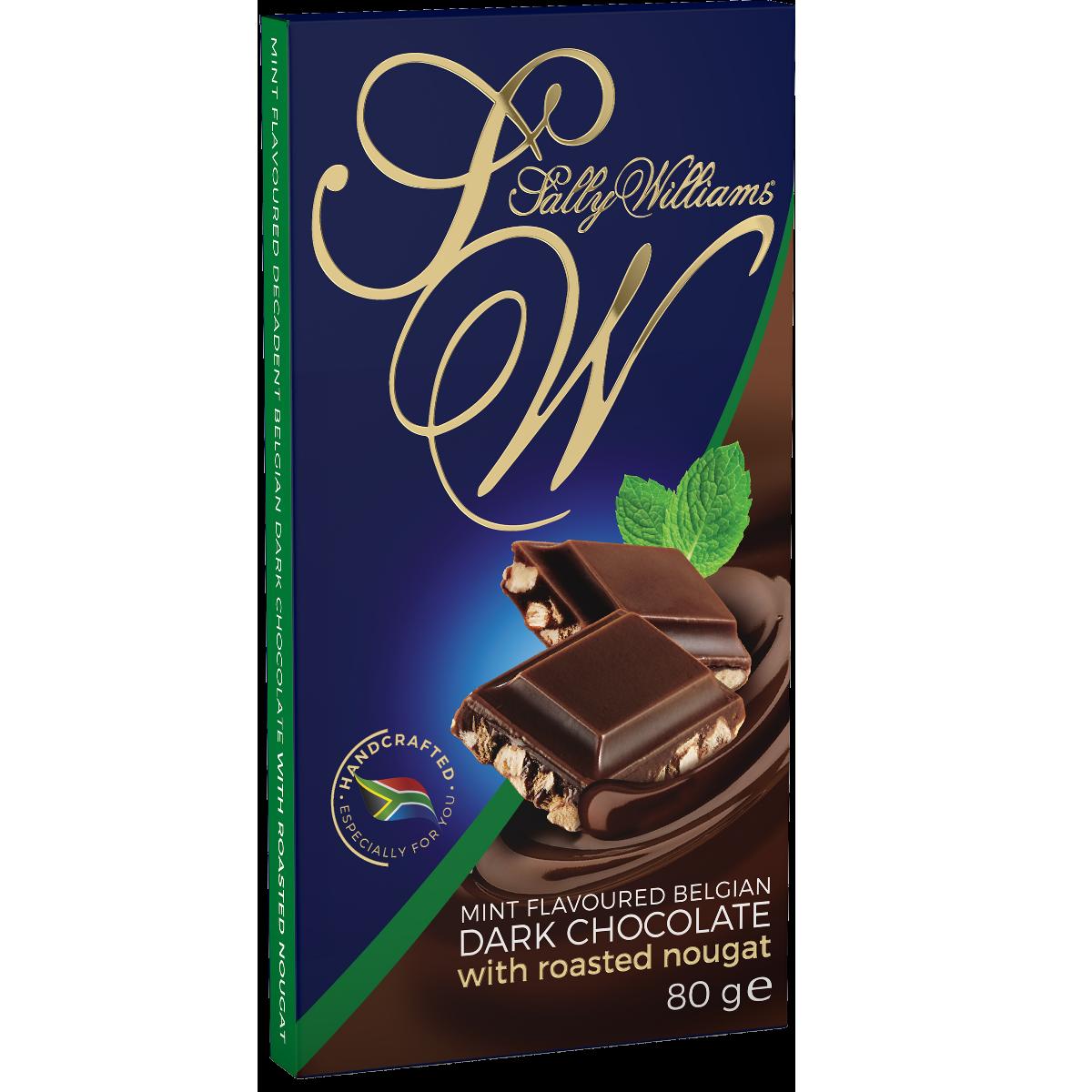 80g Mint Dark Chocolate Nougat Slab