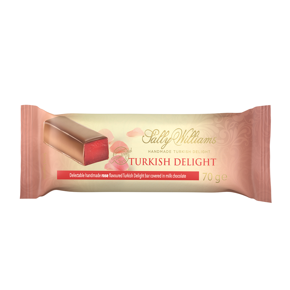 70g Rose Turkish Delight Chocolate Bar