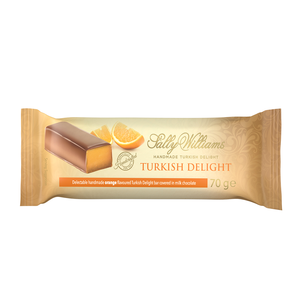 70g Orange Turkish Delight Chocolate Bar